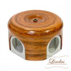 Керамическая распределительная коробка D78 мм, декор Орех