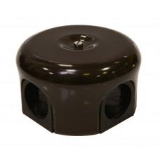 Керамическая распределительная коробка D78 мм, коричневая
