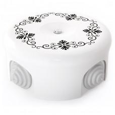 Керамическая распределительная коробка D90 mm с декором №4
