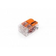 Клемма WAGO на 2 провода, компактная с рычагами
