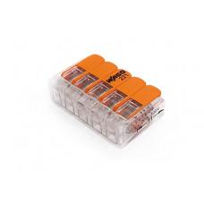 Клемма WAGO на 5 провода, компактная с рычагами