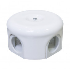 Распределительная коробка D78мм, белая керамика