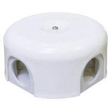Распределительная коробка D90мм, белая керамика