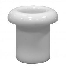 Втулка керамическая для сквозного отверстия белая
