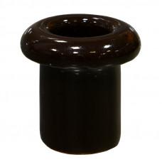 Втулка керамическая для сквозного отверстия коричневая
