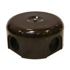 Керамическая распределительная коробка D90 мм, коричневая