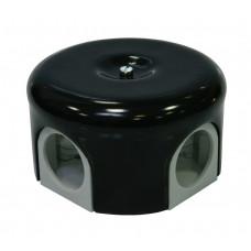 Керамическая соединительная коробка D78мм, черная керамика