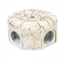 Распределительная керамическая коробка D78мм, мрамор