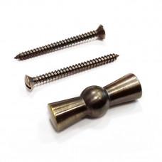 Ручка выключателя с саморезами, Темная бронза